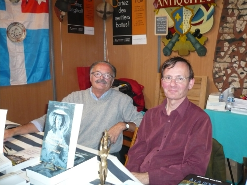 """Avec Marc Tardieu, auteur de """"La dame de Saint-Malo"""" chez Pascal Galodé Editeurs."""