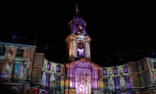 Jeux de lumières sur la mairie de Rennes - janvier 2016